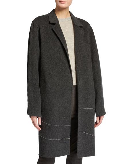 Lafayette 148 New York Crawley Exquisite Cashmere Embellished Coat