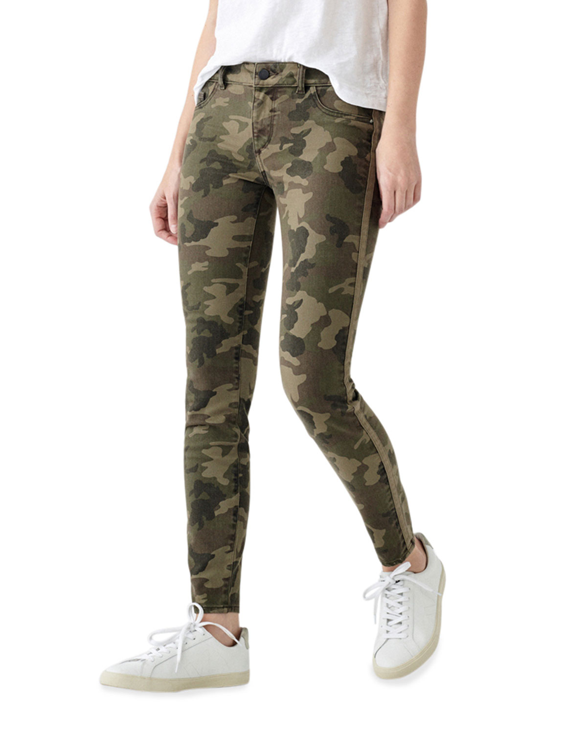 Florence Camo-Print Ankle Skinny Jeans