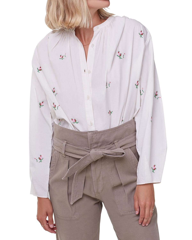 Nadia Floral Button-Down Shirt
