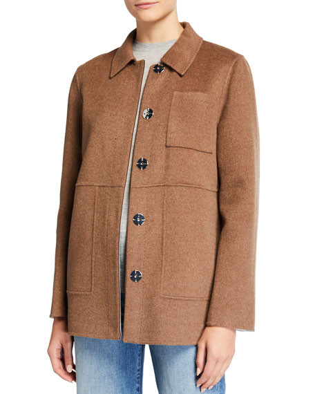 Lafayette 148 New York Pascal Two-Tone Double-Face Jacket