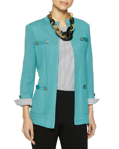 Misook Pocket Detail Knit Jacket