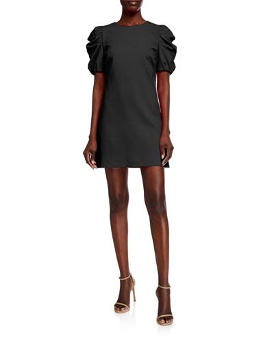 Hanita Puff-Sleeve Shift Dress