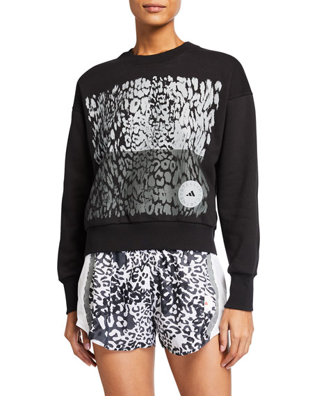 adidas by Stella McCartney Animal Graphic Cotton Sweatshirt