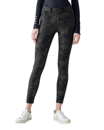 Florence Mid-Rise Camo Skinny Jeans