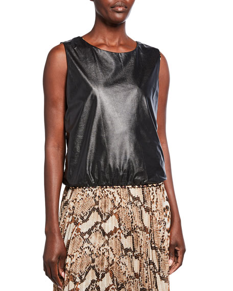 Loyd/Ford Shiny Vegan Leather Tank Top