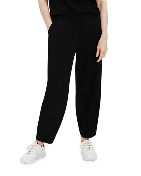 Eileen Fisher Plus Size Organic Cotton Stretch Lantern Ankle Pants w/ Pockets