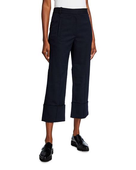 Tibi Luka Suiting Cuffed Hem Cropped Pants