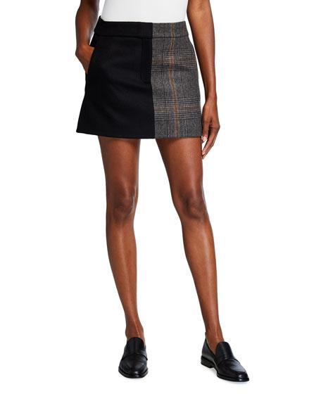 Tibi Mats Mini Trouser Skirt