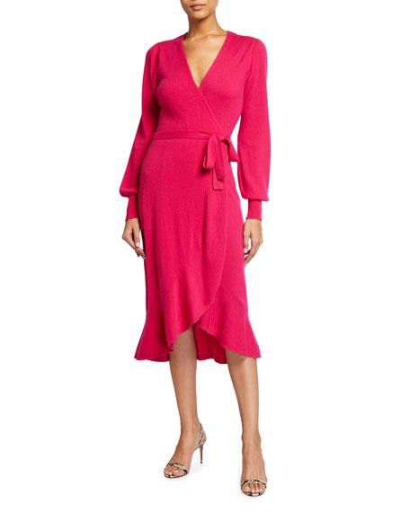 Diane von Furstenberg Kennedy Wool-Cashmere Midi Wrap Dress