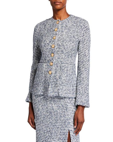 St. John Collection Bicolor Tweed Knit Jacket
