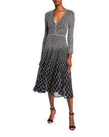 3.1 Phillip Lim Organza-Trim Dress -  3.1 Phillip Lim -  Neiman Marcus :  party low back organza trim v-neckline