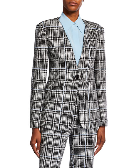St. John Collection Prince Of Wales Plaid Knit Jacket