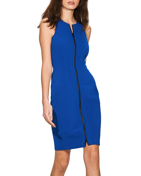 Toccin Zip-Front Racer Sheath Dress