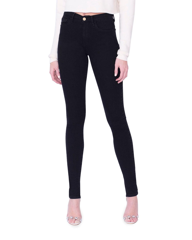 Tallulah High-Rise Skinny Jeans w/ Split Hem