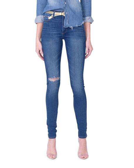 Midheaven Denim Keane Skinny Jeans with Knee Rip
