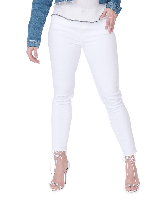 Leila Skinny Jeans with Raw Hem