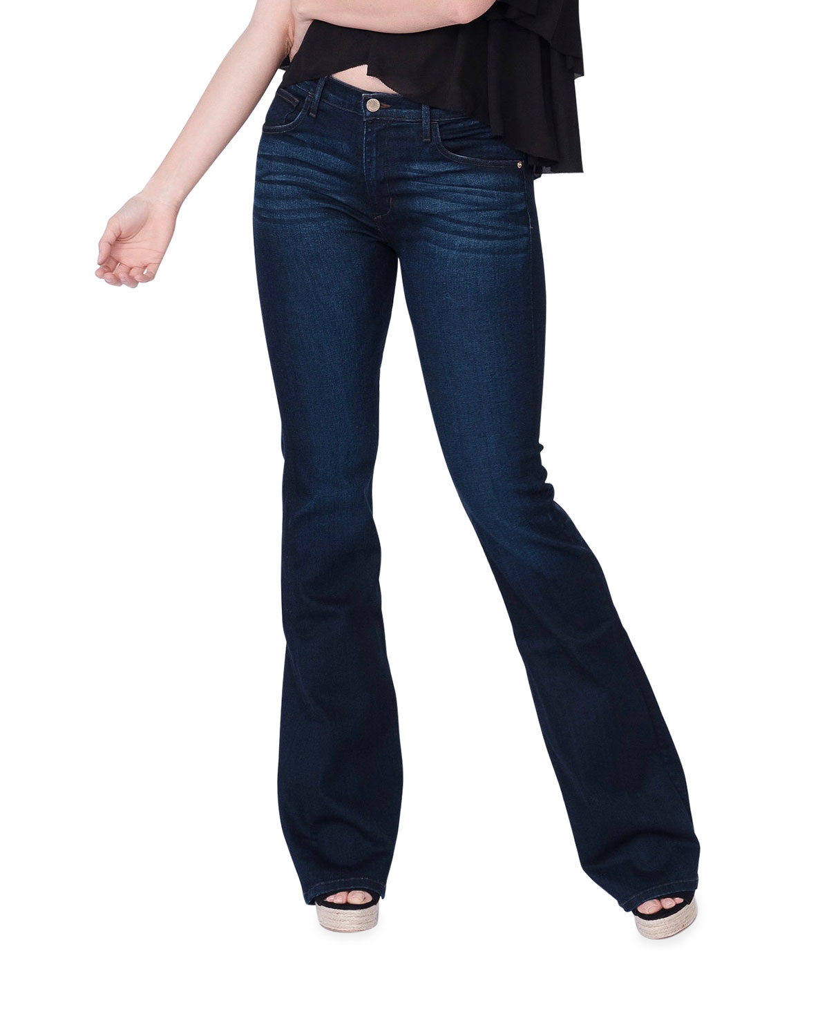 Valentina Mid-Rise Flare Jeans