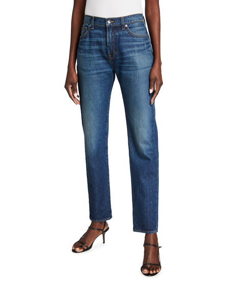 Veronica Beard Jeans Benzi Straight-Leg Jeans