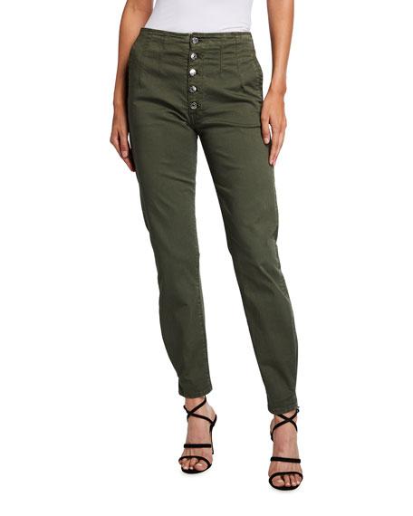 Veronica Beard Jeans Nita Peg-Leg Ankle Jeans