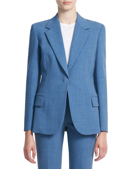 Theory Fitted Twill Blazer