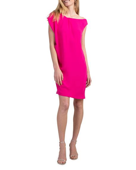 Trina Turk Blondell Asymmetrical Crepe Dress