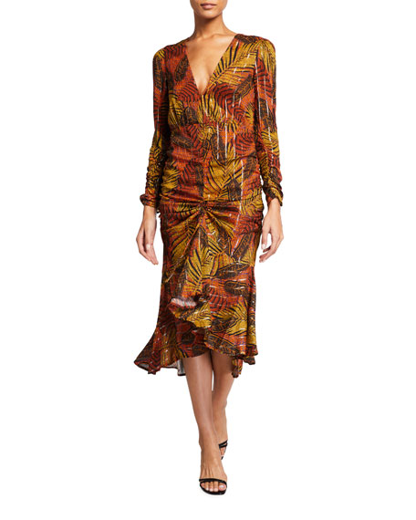 Le Superbe Crosby Ave. Printed Midi Dress