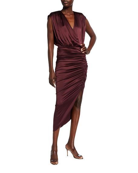 Veronica Beard Casela Ruched Sleeveless Dress
