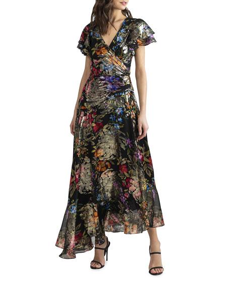 Shoshanna Roxana Tremezzo Bouquet Asymmetrical Dress