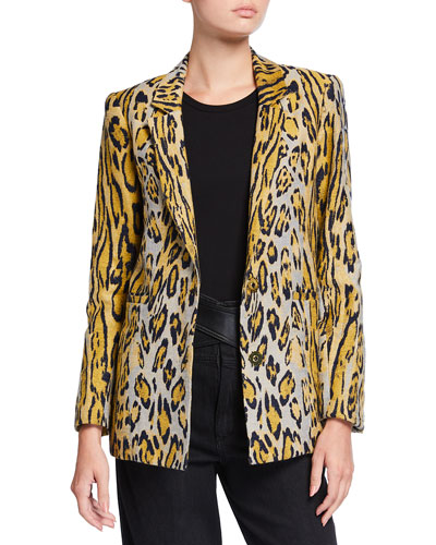 Ombre Animal-Print Jacket