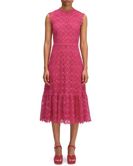 kate spade new york scallop lace midi dress