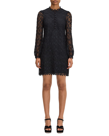 kate spade new york scallop lace mini dress