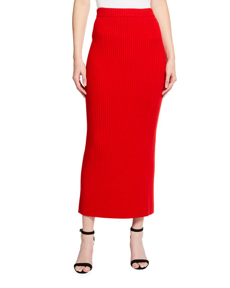 St. John Collection Rib Knit Skirt