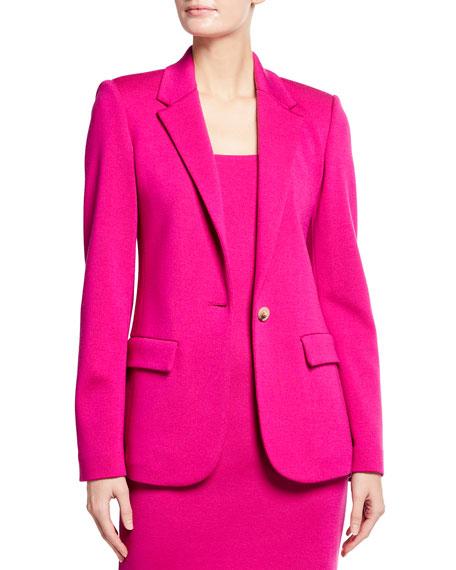 St. John Collection Milano Knit Notch Collar Jacket