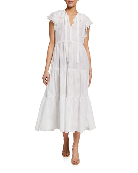 See by Chloe Sleeveless Midi Dress with Lace