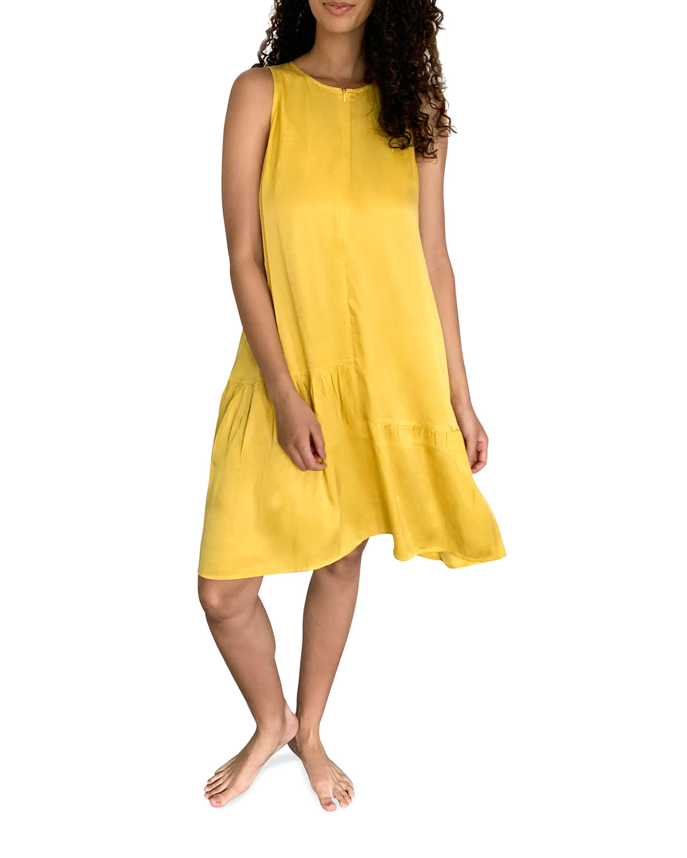 Maternity Violette Sleeveless Flounce-Hem Dress