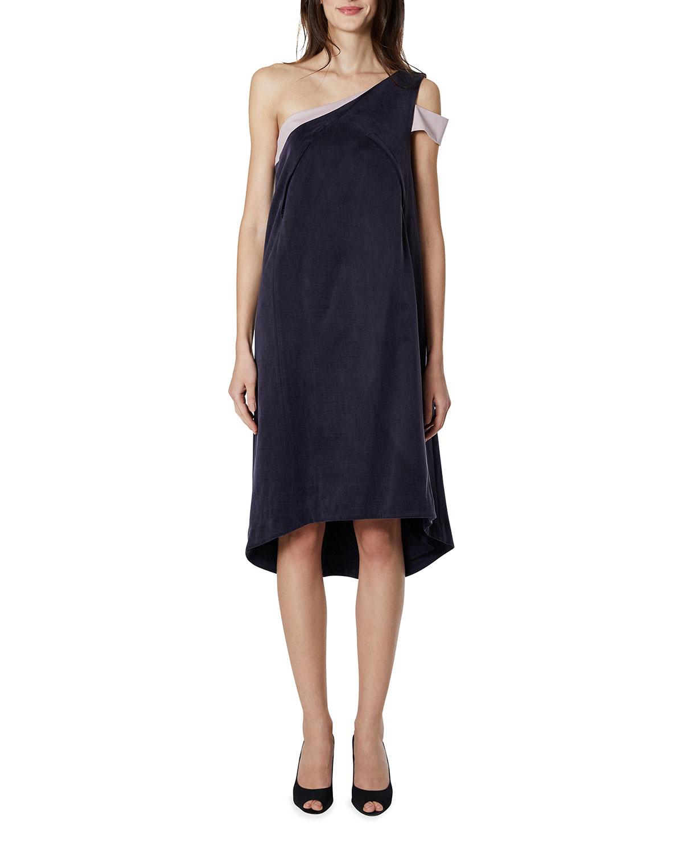 Maternity Karolina Two-Tone One-Shoulder Dress