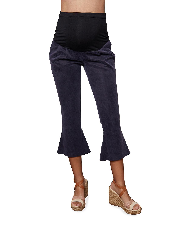 Maternity Victoria Flared-Leg Crop Pants