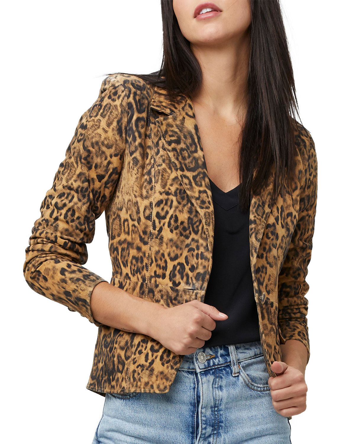 All Hail The Queen Leopard Leather Blazer