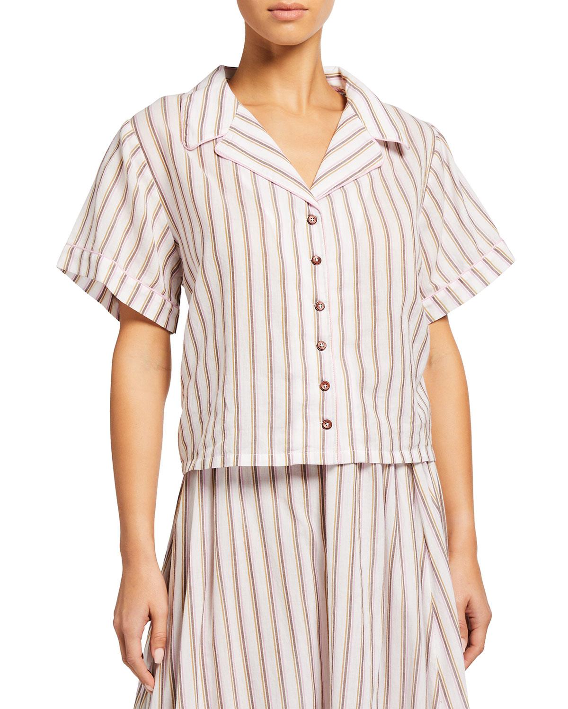 Alice Striped Boxy Cotton Top