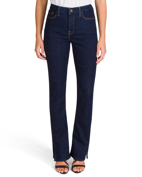 Jen7 by 7 for All Mankind Slim Boot-Cut Jeans with Split Hem