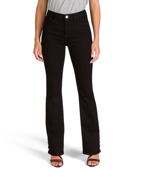 Jen7 by 7 for All Mankind Slim Boot-Cut Jeans with Button Hem