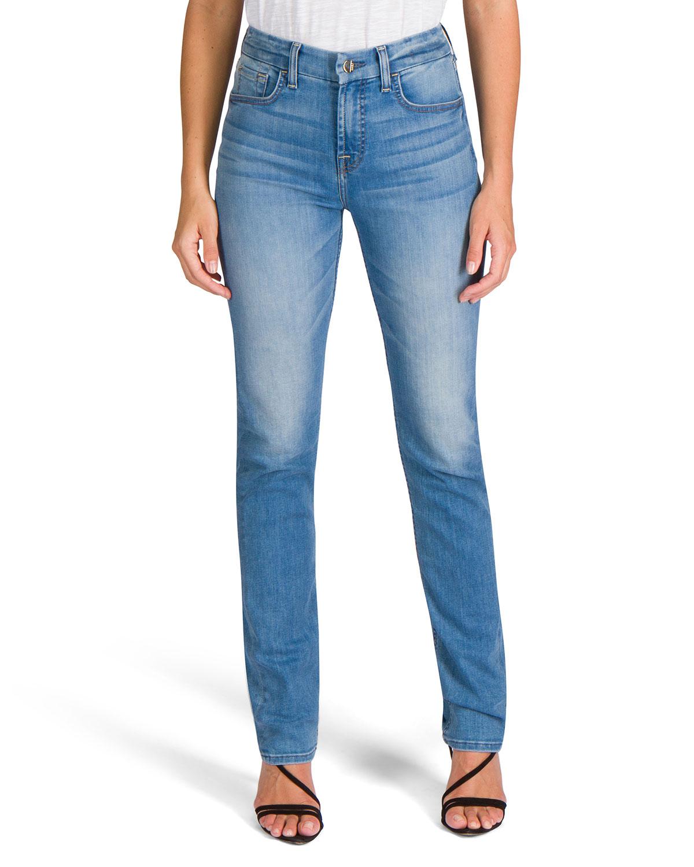 Mid-Rise Slim Straight Jeans