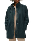 Eileen Fisher Petite Recycled Polyester Anorak Coat