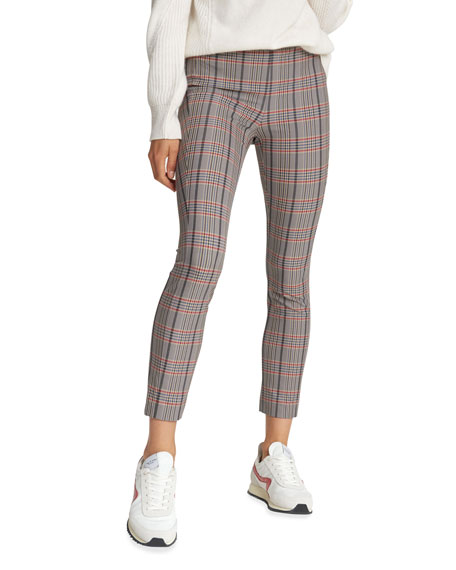 Rag & Bone Simone Fitted Check Cropped Pants