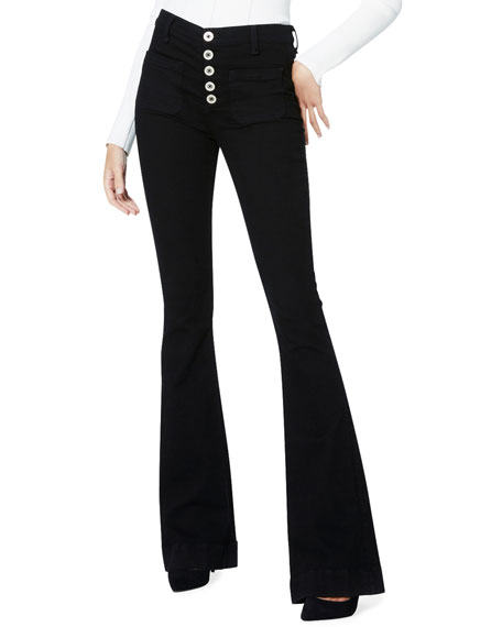 Ramy Brook Cindy High-Rise Flare Pants