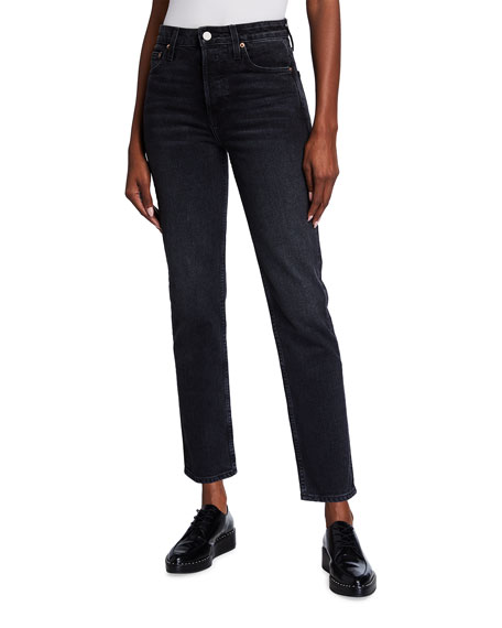 TRAVE Constance Tapered Straight Jeans