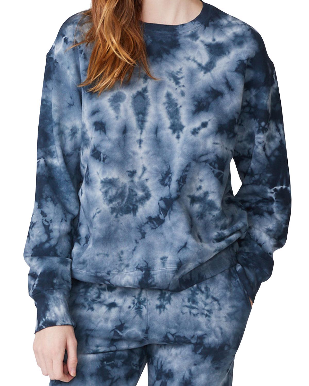 Crystal Tie Dye Boyfriend Sweatshirt