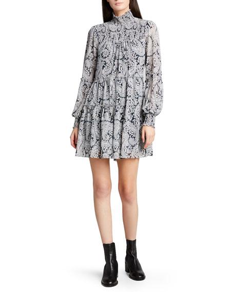cinq a sept Rika Long-Sleeve Mini Dress