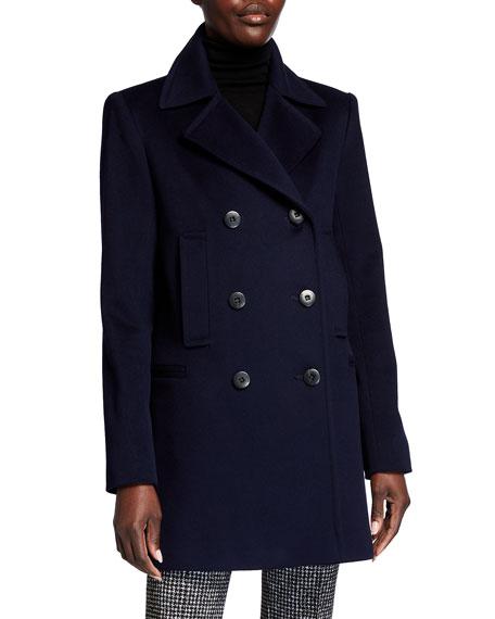Fleurette Boyfriend Wool Pea Coat