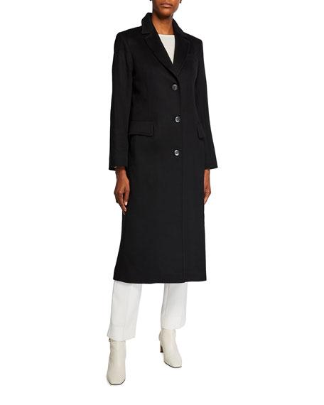 Fleurette Cashmere-Wool Notch-Collar Maxi Coat